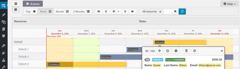 Booking Calendar Personal